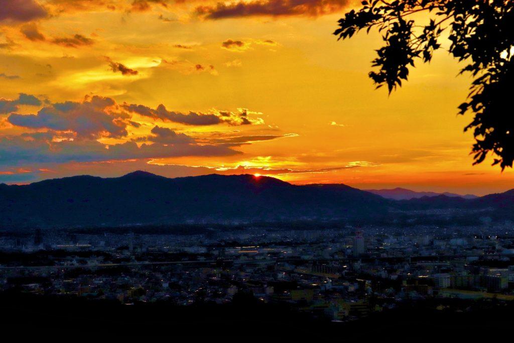 大岩山展望所からの夕日