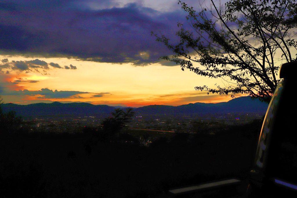 大岩展望所からの夕焼け
