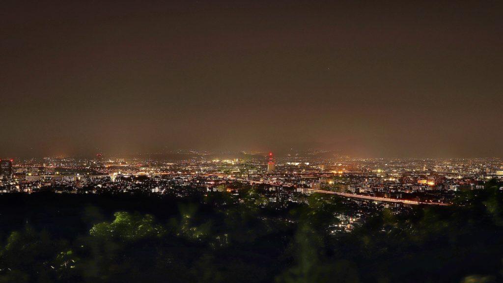 大岩展望所からの夜景